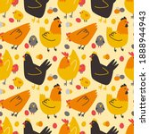 seamless pattern with colored... | Shutterstock .eps vector #1888944943
