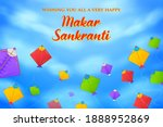 illustration of makar sankranti ... | Shutterstock .eps vector #1888952869