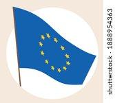 european union flag isolated....   Shutterstock .eps vector #1888954363