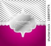 Elegant Silver Invitation Design