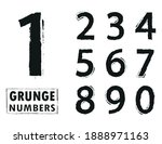 set of grunge dirty numbers. | Shutterstock .eps vector #1888971163