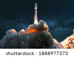 Spacecraft Takes Off Into The...