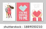 set of valentine's day greeting ... | Shutterstock .eps vector #1889050210