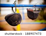 Riding Helmet Hanging From The...
