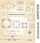vintage ornaments and dividers | Shutterstock .eps vector #188907608