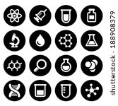 chemical icons set | Shutterstock .eps vector #188908379