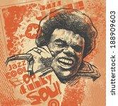 "retro design ""jazz""  with afro...   Shutterstock .eps vector #188909603"