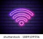 wi fi neon sign.vector night...