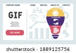 vector website design template ....   Shutterstock .eps vector #1889125756