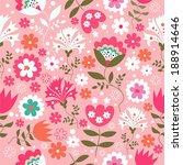 seamless floral pattern | Shutterstock .eps vector #188914646
