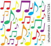 music notes colorful background ...   Shutterstock .eps vector #1889173126