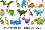 set of different dinosaur...   Shutterstock .eps vector #1889207323