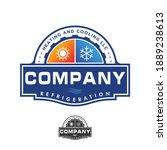 hvac logo design refrigeration... | Shutterstock .eps vector #1889238613
