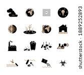 enviromental issues icons....   Shutterstock .eps vector #1889252893