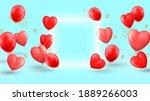 happy valentine's day banner.... | Shutterstock .eps vector #1889266003