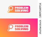 problem solving vector label set | Shutterstock .eps vector #1889268916
