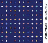 hand drawn childish stars... | Shutterstock .eps vector #1889268919