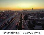 Evening Traffic Jam At City...