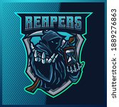 hood reaper glow blue color... | Shutterstock .eps vector #1889276863