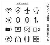 web ui symbols collection set