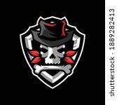 skull cowboy sports logo design ... | Shutterstock .eps vector #1889282413