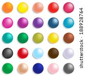 collection of colorful glossy... | Shutterstock .eps vector #188928764