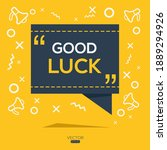 creative  good luck  text...   Shutterstock .eps vector #1889294926