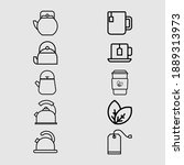 tea and teapot outline icon...   Shutterstock .eps vector #1889313973