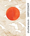 japanese background with hand...   Shutterstock .eps vector #1889320609