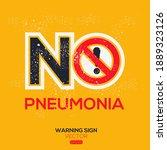 warning sign  no pneumonia ... | Shutterstock .eps vector #1889323126
