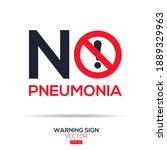 warning sign  no pneumonia ... | Shutterstock .eps vector #1889329963