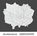 Coventry map. Detailed map of Coventry city administrative area. Cityscape panorama. Royalty free vector illustration. Outline map with highways, streets, rivers. Tourist decorative street map.