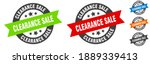 clearance sale stamp. clearance ... | Shutterstock .eps vector #1889339413