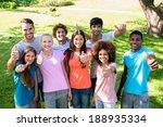 group portrait of happy friends ...   Shutterstock . vector #188935334