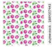 roses bundle vector  perfect...   Shutterstock .eps vector #1889357443