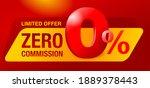 0 percents banner   zero... | Shutterstock .eps vector #1889378443