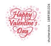 happy valentine day ... | Shutterstock .eps vector #1889381326