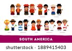 americans in national clothes.... | Shutterstock .eps vector #1889415403
