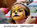 little girl getting her face... | Shutterstock . vector #188942699