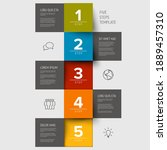 multipurpose mosaic infographic ... | Shutterstock .eps vector #1889457310