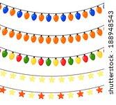 set of christmas garlands of... | Shutterstock . vector #188948543