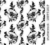 vector  pattern endless floral... | Shutterstock .eps vector #188951819
