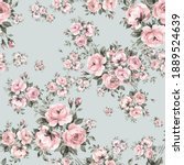 Abstract Floral Seamless Print...
