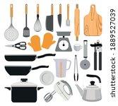 kitchen utensils collection...   Shutterstock .eps vector #1889527039