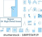 repair icon set. thin line with ... | Shutterstock .eps vector #1889556919