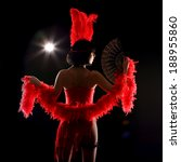 Burlesque Dancer With Red...