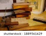 Old Pencil Case  Interior Of...