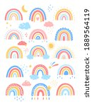 vector colorful rainbow in... | Shutterstock .eps vector #1889564119