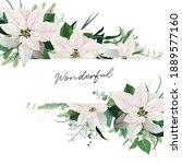winter season wedding floral... | Shutterstock .eps vector #1889577160