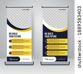 corporate rollup or x banner... | Shutterstock .eps vector #1889583403